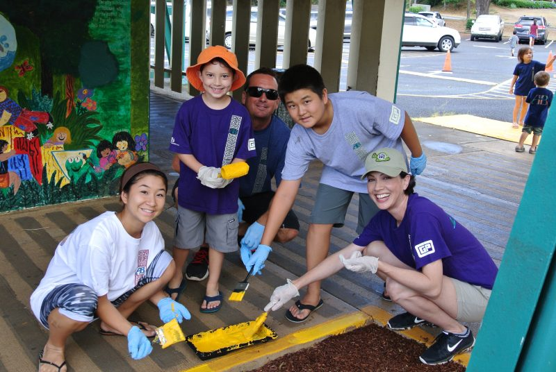 A&B employees community service project