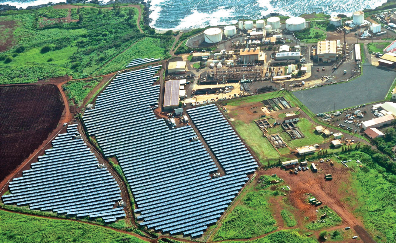 Solar field on Kauai