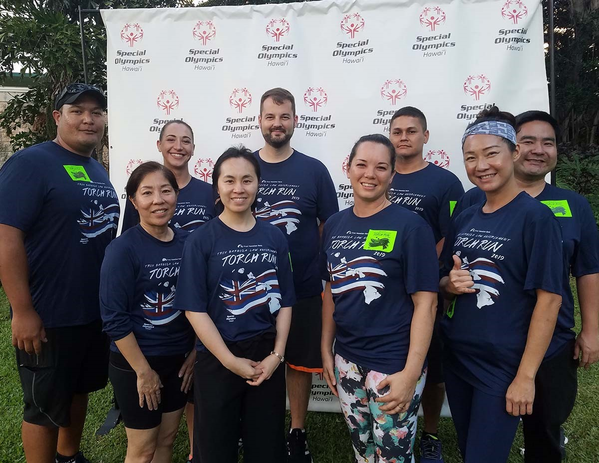 Troy Barboza Torch Run 2019